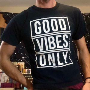 """""""Good Vibes Only"""" Graphic T-shirt"""